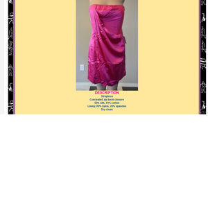 BCBG MAXAZRIA Emerald Draped Satin FUCHSIA 8 #412 Dresses - BCBG MAXAZRIA Emerald Draped Satin FUCHSIA 8 #412
